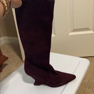 Dior Knee High Calf Skin Boots